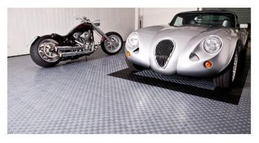 Garage mit befahrbaren kunststoffboden - Klick fliesen garage ...